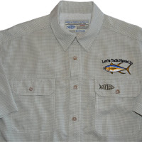 Aftco Travel Shirt - Olive Check - Tuna