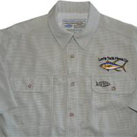 Aftco Travel Shirt - Olive Check - Tuna