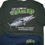 Hookup T-Shirt Wahoo Design in Green or Dark Blue